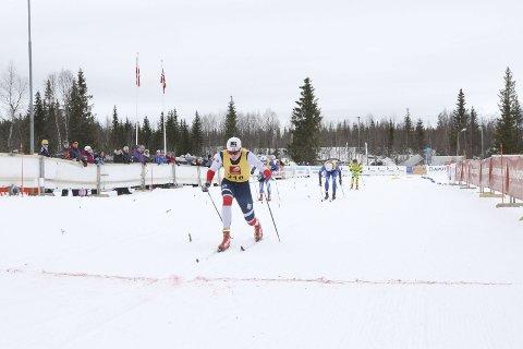 NNM på ski Sjåmoen lørdag. Kristoffer Grønvik, Mosjøen IL Ski fikk endelig en NNM-medalje