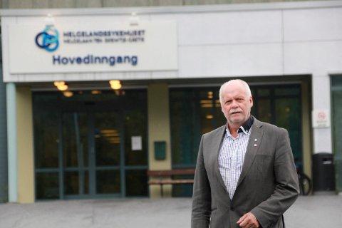 REAGERER: Jann-Arne Løvdahl mener det er uhørt og sterkt beklagelig at en fylkesråd uttaler seg om plassering av Helgelandssykehuset.