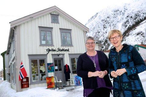 Galleri Stokland i Sjøgata i Mosjøen. Drives av Kirsti Stokland. Laila Nævervei er siste skudd på kunststammen.