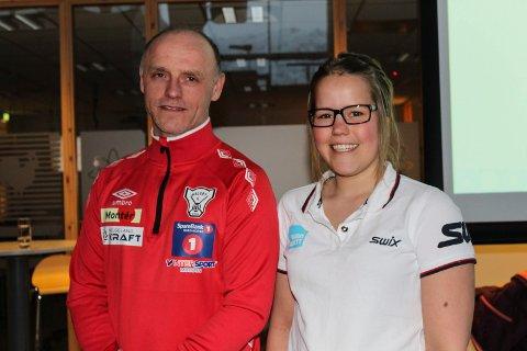 Einar Johnsen og           Margrete Hjellen spis smart foredrag