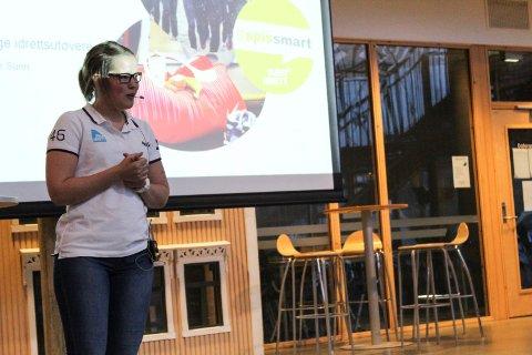 Margrete Hjellen spis smart foredrag