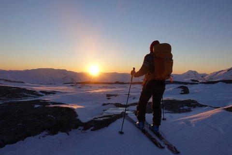 VAKKERT, MEN FARLIG: Fra toppen av Steinlikammen sør for Mosjøen.