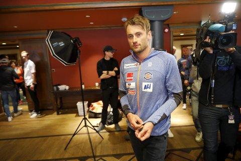 TILBAKE: Petter Northug på pressekonferansen for uttak til elitelandslag langrenn mandag. Foto: Gorm Kallestad/NTB scanpix