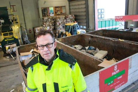 SABELRASLER: Daglig leder Håkon Johansen på SHMIL sier at han nå rasler litt med sablene til enkelte mindre næringsvirksomheter som utnytter den såkalte gratisordningen for private husholdninger i SHMIL-systemet.