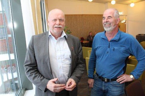 Jann-Arne Løvdahl og Gunnvald Lindset representerte Vefsn kommune, og så ikke mye nytte i dialogkonferansen til Helgelandssykehuset.