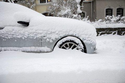 KALDT: Både elbiler, bensinbiler og dieselbiler sliter i vinterkulde. Mens de mer tradisjonelle bilene får startproblemer, sliter elbileiere med at bilene går tom for strøm raskere enn normalt. Forsikringsselskapene ber nå eierne om å ta forholdsregler når sprengkulda kommer