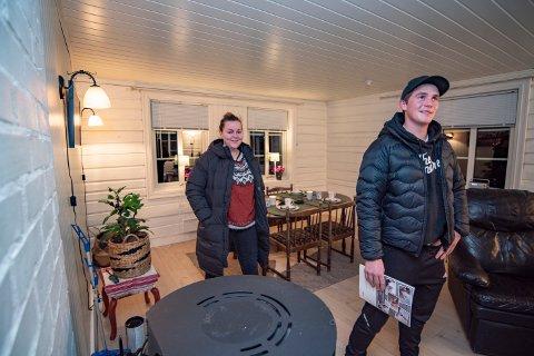 - Dette var en fin plass! Vi har ikke så lyst til å bo i byen lenger og hvis vi får oss et hus på landet skal vi starte med å skaffe oss hund, sier Thea Wika (20) og Kristian Storvik (21).