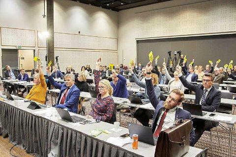 NYTT FYLKESTING: Dette bildet ble tatt i oktober under et fylkestingsmøte på  Mo.