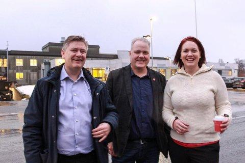 Bjørn Larsen fra Nordland Frp (i midten) sammen med  Åshild Bruun-Gundersen og Jan Steinar Engeli Johansen.