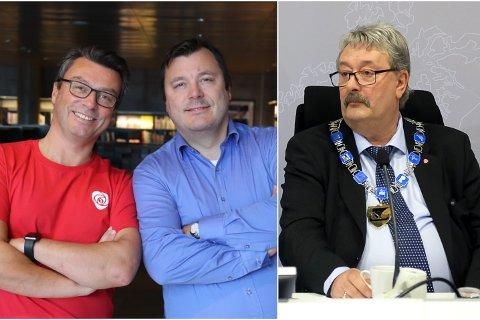 Brødrene Odd Arnold Skogsholm og Stig Tore Skogsholm representerer Arbeiderpartiet og Høyre på fylkestinget. I likhet med fungerende fylkesordfører Knut Petter Torgersen (Ap) måtte de ta stilling til vedtak om fremtidig sykehusstruktur på Helgeland tirsdag.