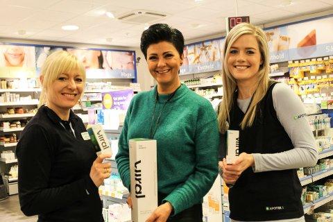 Anne-Lise Storrem, Kimy Fagermo, Nina Opsahl Viiral medisin forebyggende mot forkjølelse