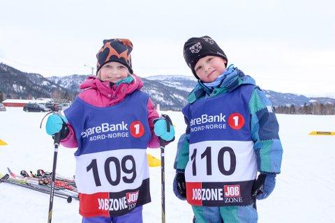Skiglade: Eirika Thoresen og Erik Berglund storkoste seg under Ollmolekene.