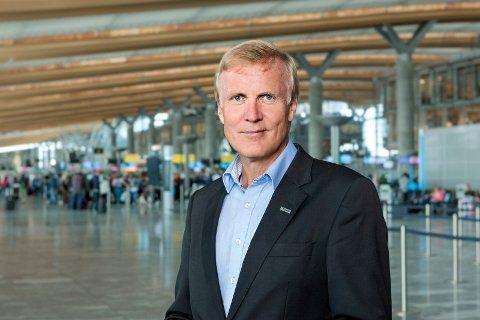 STORE PROSJEKTER: Avinorsjef Dag Falk-Petersen sier at Avinor vil bistå PLU dersom Avinor har ressurser tilgjengelig.