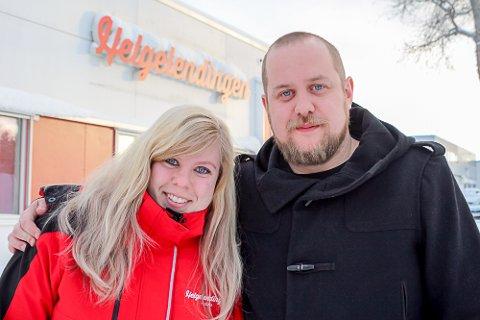 Spent: Lise Jeanette Nilsen og John Christian Nygaard ønsker at Helgelendingen skal være en lokalavis folk har glede av.