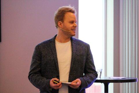 Espen Ravnå var en av foredragsholderne under Gullhanens næringslivsseminar.