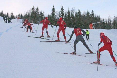 Slalåmbakken: Her skal Tour de Helgeland avgjøres. Nesten som i Tour de Ski.