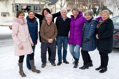 Arbeidsgruppa som jobber med planleggingen av et helt nytt aktivitetssenter i Vefsn består av Anne Molberg (f.v.), Kirsti Otervik, Lill Inger Reinfjell, Dag Utnes, Roald Luktvasslimo, Trude Haaland, Turid Myrnes Olaussen og Anna Jakobsen.