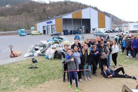 Klasse  9D plukket 182 kilo søppel og vant konkuransen.