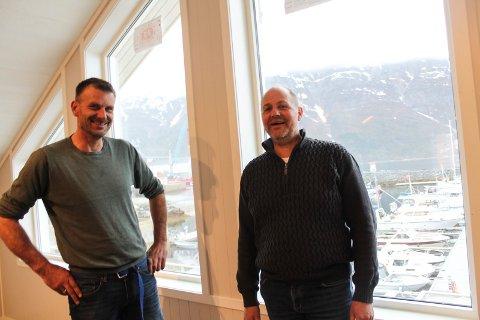 Mosjøen båtforening nytt hus småbåthavna Stian Johansen og Finn Rune Hagen