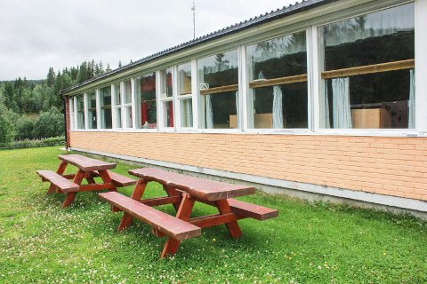 NEPPE NOE Å SPARE: Det gir neppe en økonomisk gevinst å bygge Elsfjord barnehage inn i skolebygget. Bildet viser skolebygget.
