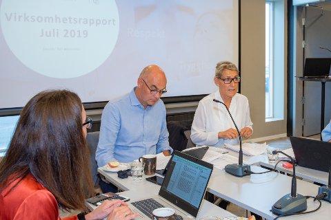 Styreleder Dag Hårstad og administrerende direktør i Helgelandssykehuset Hulda Gunnlaugsdóttir.