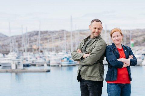 Ordførerkandidat Åshild Pettersen sammen med nestleder og næringspolitisk talsperson i SV, Torgeir Knag Fylkesnes.