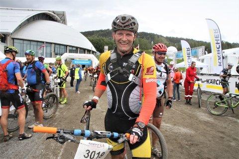 SYKLET BRA: Geir Olav Laksforsmo hadde all mulig grunn til å være fornøyd etter at han hadde vartet opp med bestenotering i Birkebeinerrittet.