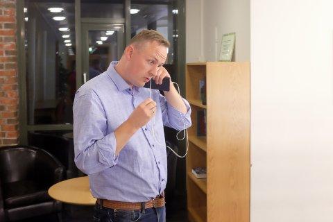 Ordfører Rune Krutå i Vefsn Arbeiderparti fikk ingen god start på valgnatta.