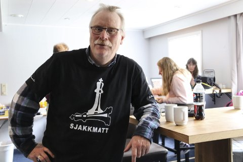 ARRANGØR: I helga er det KM i lynsjakk og hurtigsjakk, og arrangør Torger Nilsen kan ikke huske sist det var et sånt KM.