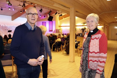 Deltar: Rudi Jarholm Spaans og Ragnhild Fasseland fra henholdsvis Mosjøen Misjonsmenighet og Den norske kirke.  Foto: stine Skipnes