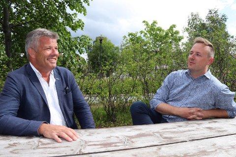 VIL HA UTREDNING: Bjørnar Skjæran og Rune Krutå ønsker at Drevjamoen skal utredes som rekruttskole, men er redd det blir tøffere etter at Senterpartiet trakk seg fra forhandlingene om forsvarets langtidsplan.