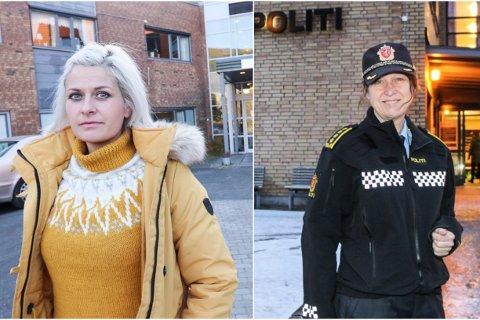 Klar oppfordring: Hege Harboe-Sjåvik, kommuneoverlege i Vefsn, og Lisbeth Aarvik, stasjonssjef på Mosjøen politistasjon, oppfordrer folk til å tenke seg godt om og innrette seg etter smittevernsreglene.