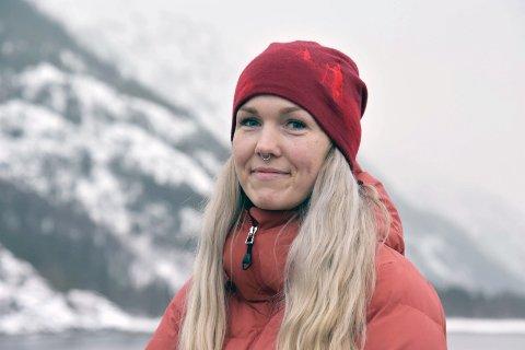 Lena Mellingen leder Motvind Bevar Øyfjellet. Tirsdag skal hun holde appell foran Stortinget.