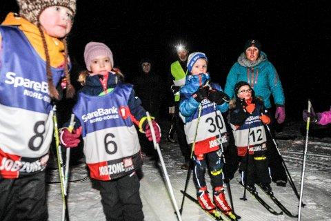 POPULÆRT: Lysløypekarusellen i Vefsn er populær blant de yngste deltakerne. 42 forskjellige deltakere har vært med på de tre første rennene.