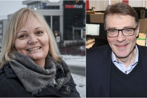 Redaktør Marit Ulriksen i Rana Blad og redaktør Geir Arne Glad i Helgelendingen.