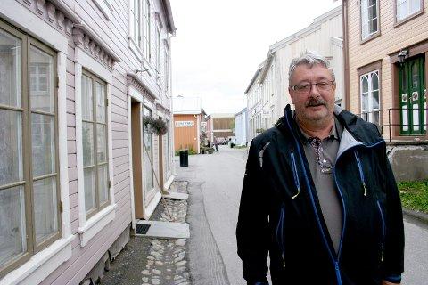 Knut Petter Torgersen er ferdig som heltidspolitiker. Her fra en annen anledning i Sjøgata.