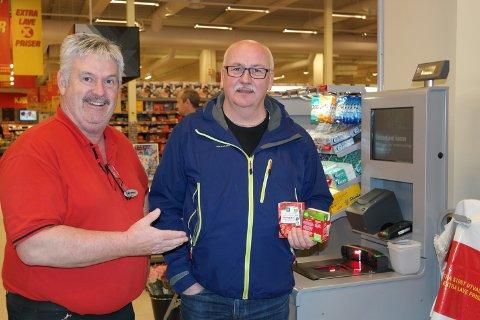 Butikksjef Asle Aalbotsjord kan smile når fusjonen mellom Coop Helgeland og Coop Midt-Norge trer i kraft.