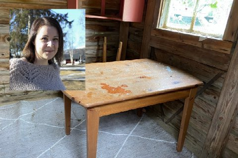 Dette synet møtte Camilla Martinsen da hun kikket inn i lekestua.