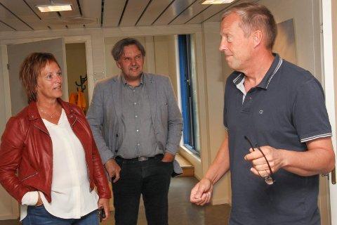 Margunn Ebbesen, Jonny Finstad og Sten Magne Hansen på Væxt