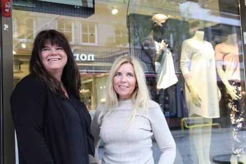 Gleder seg: - Vi gleder oss til Tiendebytte, sier eier Anne Kristin Gryne Sydhagen og butikkmedarbeider Elin Albertsen på Guni.