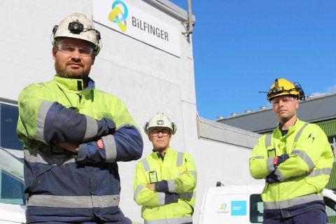 Trond Brattbakk  (t.v) Skjalg Lien og Erik Berg er innstilt på å forhandle  den tida det tar å bli enig.