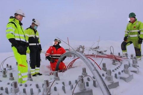 FÅR NEI: Arbeidet med vindkraftanlegget på Øyfjellet pågår for fullt, men Statsforvalteren i Nordland er negativ til de siste søknadene fra Øyfjellet Wind.