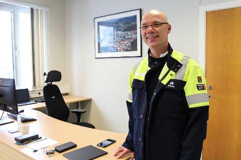 På plass: Roy Hammer er på plass som ny direktør hos Alcoa Mosjøen