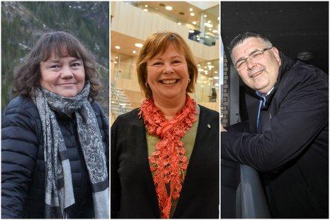 Hanne Dyveke Søttar, Siv Mossleth og Kjell Børge Freiberg er noe delt i synet på om det er riktig av Stortings-politikere å takke ja til å hoppe frem i vaksinekøen.