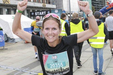 I FORM: Line Valåmo gjør det bra på lengre distanser. I helga vartet Mosjøen-damen opp med en bra halvmaraton i Oslo. Hun ble nummer 21 av 342 i sin årsklasse på halvmaraton.