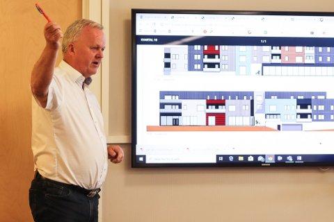 VILLE BYGGE: Tore Larssen og Ziko Gruppen AS ønsket å bygge et stort bygg ved torget i Mosjøen. Nå bruker de kreftene sine andre steder.