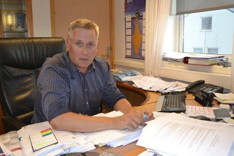 STARTET TIDLIG: Rådmann Jens Betsi tok fatt på barnehagesaken fredag morgen.