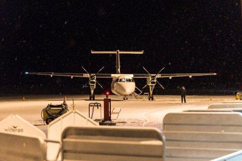 KARTLEGGER: Den smittede mannen landet med rutefly i Hammerfest tidligere denne uken.
