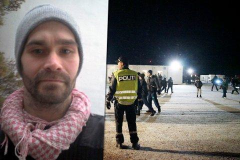 «FRAKTES HIT»: Vestleiren på Høybuktmoen skal på ny ta imot flyktninger, ifølge Ask Ebeltoft. Fotomontasje: Privat / Ole-Tommy Pedersen (arkiv)