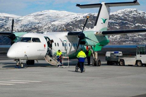 STREIKEFARE: LO og YS har varslet at de vil ta ut medlemmer i streik ved Alta og Honningsvåg lufthavn. Arkivfoto.